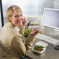 ured, posao, zdrava hrana