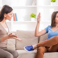 roditelj, adolescent, svađa, sukob