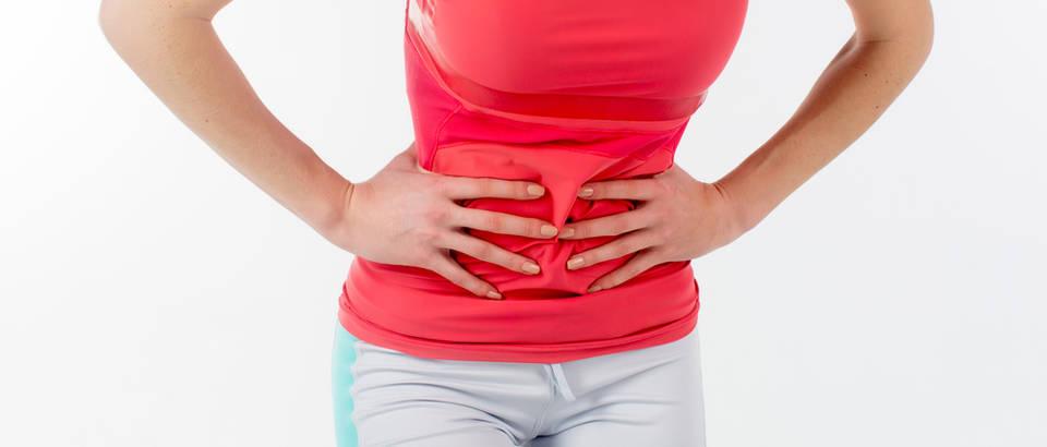 Vježbanje bol u trbuhu menstrualna bol shutterstock 253849564