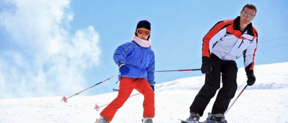 Skijanje, snijeg, vjezbanje