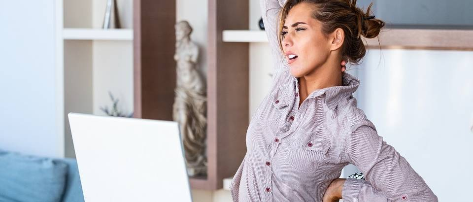 Bol leđa rado od kuće