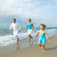 Obitelj, sreca, ljeto, more