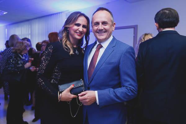 Mirela Marić (magistra nutricionizma Poliklinike) i prof. Drago Prgomet (predsjednik Gradske skupštine)