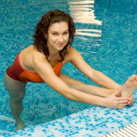 Gimnastika, bazen, vjezbanje, voda
