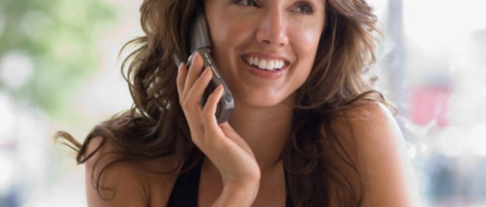 zena-mobitel-telefon-sreca-rucak-odmor