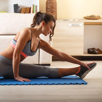 Žena, vježba, zagrijavanje, Shutterstock 245635165