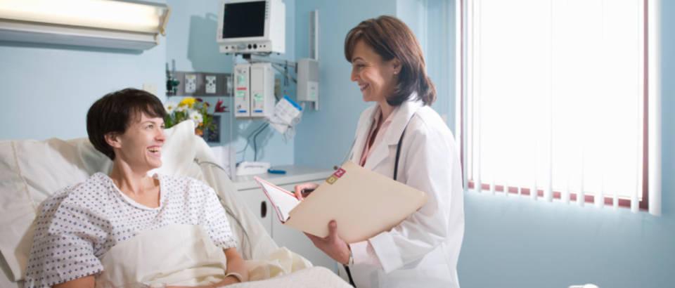 bolnica, zena, pregled, medicinska sestra