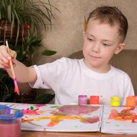 Dijete, slikanje, crtanje