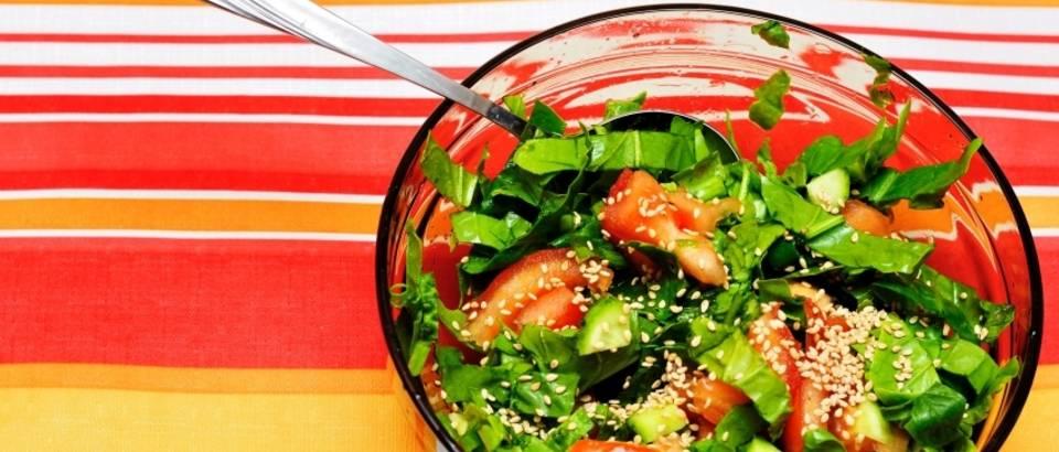 salata, spinat, rajcica