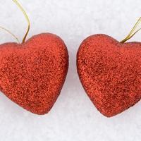 Srce, ljubav, snijeg, zima, blagdani