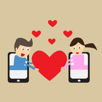 Ljubav mobitel veza srce shutterstock 220282900