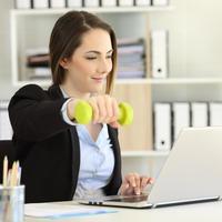 zena, ured, vjezba Shutterstock 1074562586