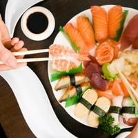 morski plodovi, losos, sushi, tuna, riza