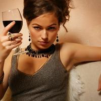 zena, zavodenje, vino, flert