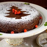 kolač, šećer u prahu, cimet, božić