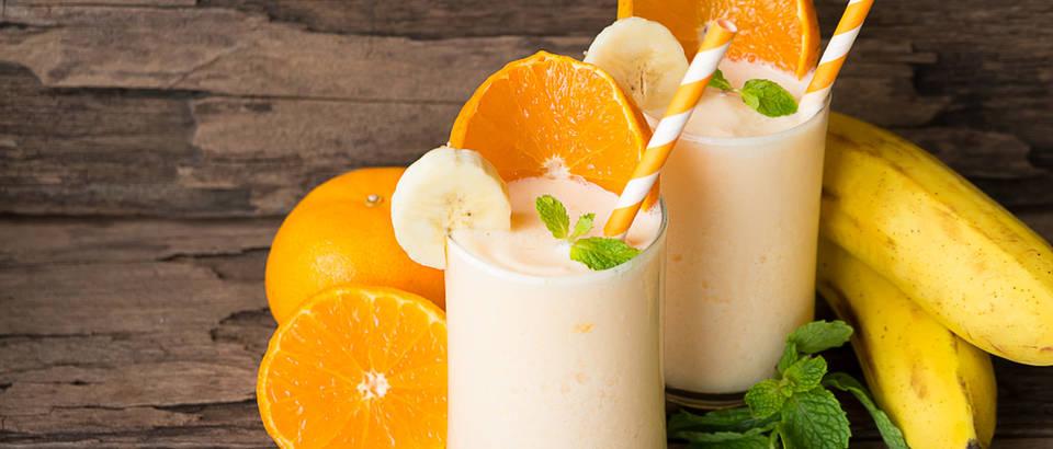 smoothie, naranča, banana