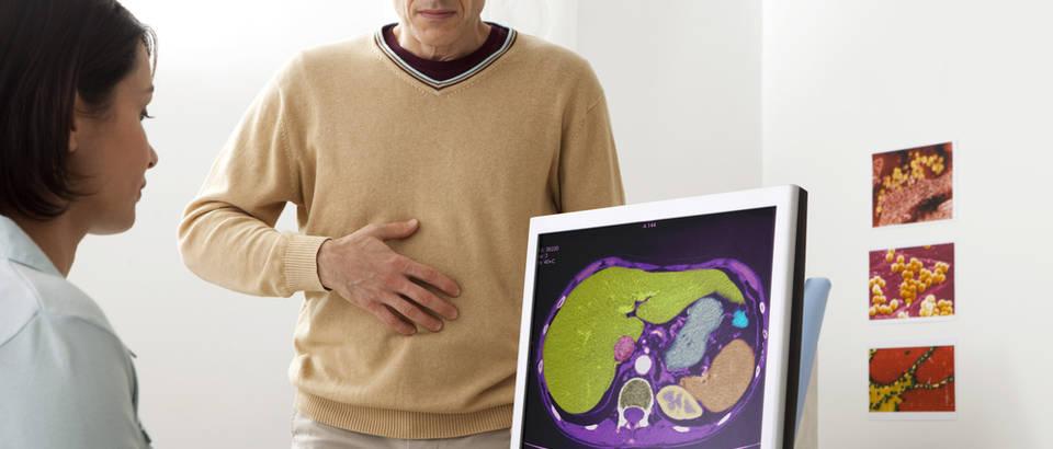 Jetra organi trbug gastroenterologija pregled lijecnik doktor ordinacija bol mucnina shutterstock 171521822