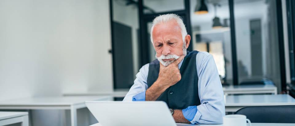 starost, čovjek, posao, stručnjak, ured