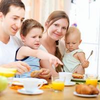 prehrana, djeca, kuhinja, obitelj, dorucak