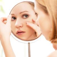 Zrcalo, koža, žena, Shutterstock 182074958