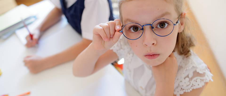 dijete, vid, naočale