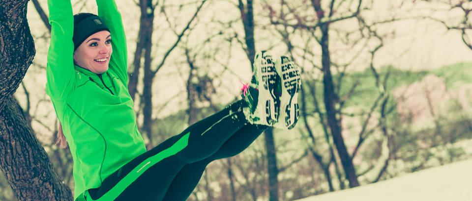 Trening vježbanje hladnoća shutterstock