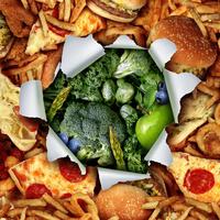 Kolesterol, fast food, zelenjava, salate, povrće, zdravo, nezdravo, Shutterstock 291923069