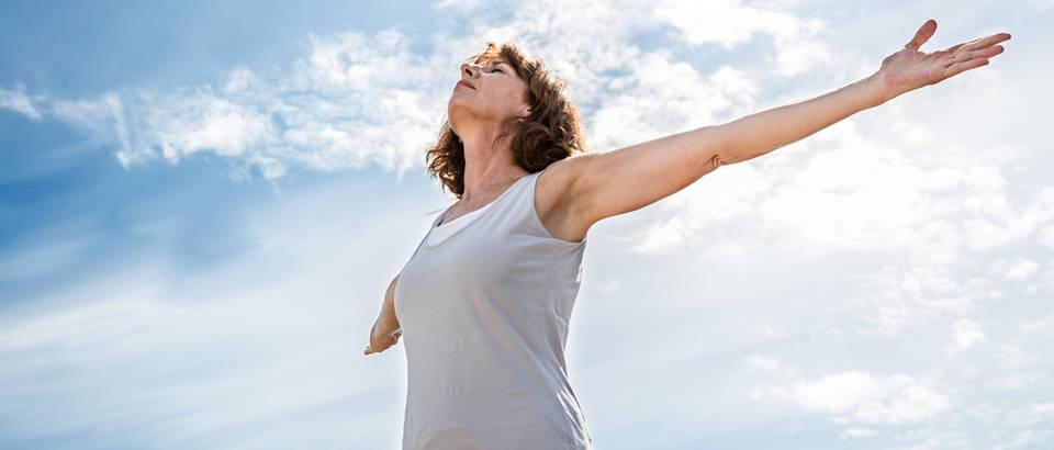 Disanje pluća žena