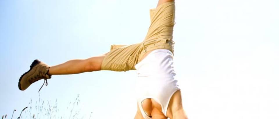 sreca akrobacije, zdravlje, energija, vitalnost, zvijezda, priroda