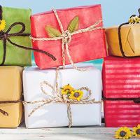 Ljeto darivanja darovi pokloni plaza