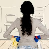 Kućanstvo čišćenje kućanica shutterstock 381940465