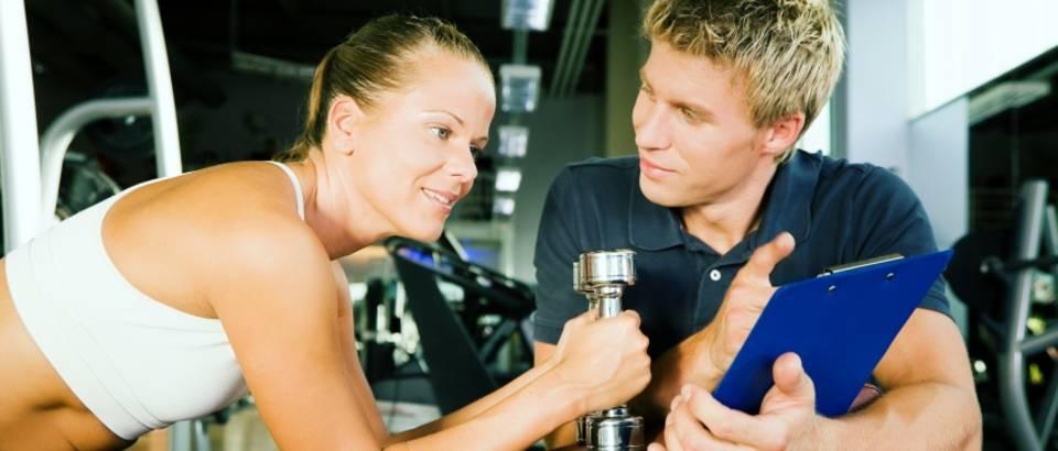 Vjezbanje, fitness, trener