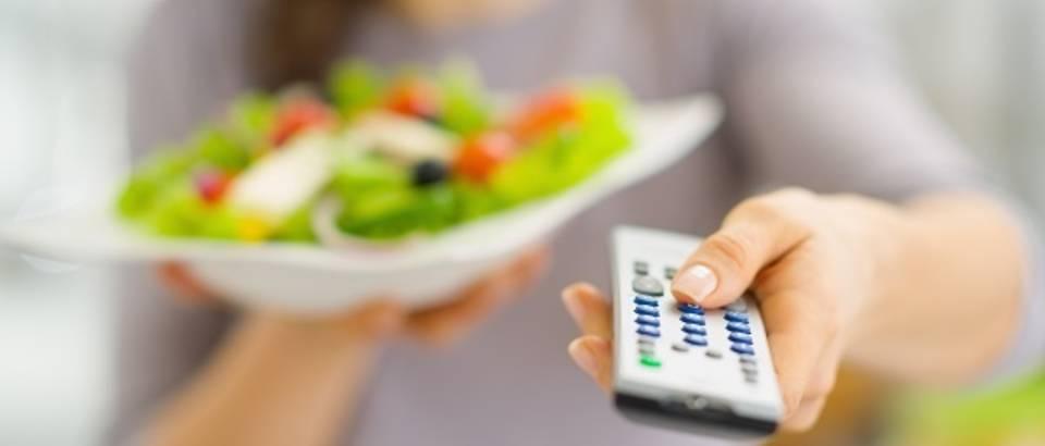 salata, televizija, jelo