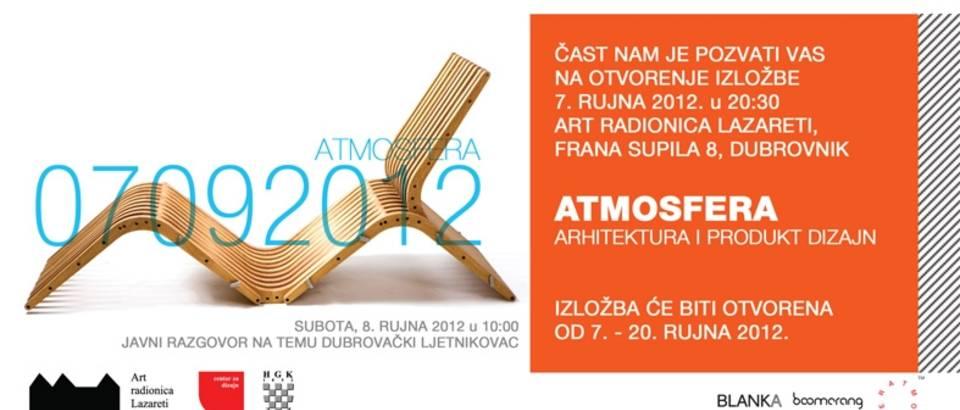 "Izložba ""ATMOSFERA – arhitektura i produkt dizajn"""