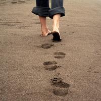 Stopala, pijesak, koraci