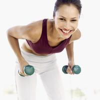 Vjezbanje, zena, utezi, fitness