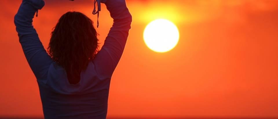 Meditacija, zalazak sunca, mir