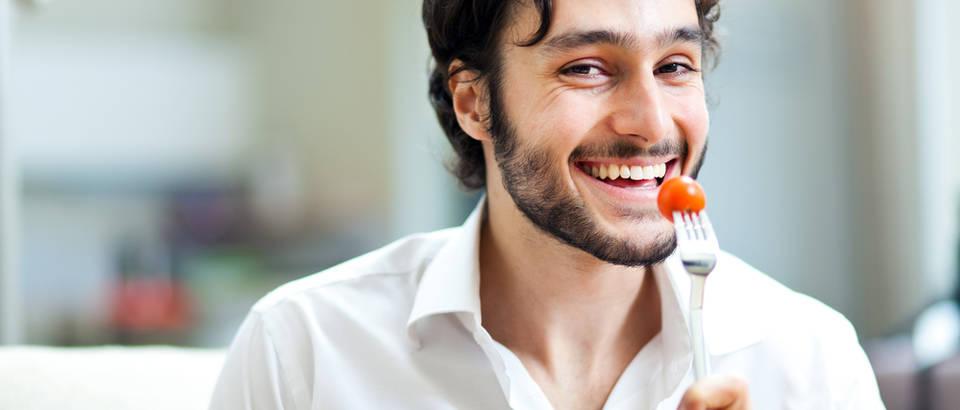muškarac, zdravlje, namirnica, hrana, rajčica