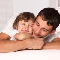 obitelj, roditelj, otac i kci, dijete