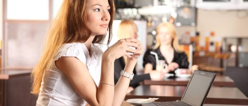 kava, kafic, misli, razmisljanje, djevojka, zena