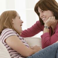 Dijete, mama, kci, razgovor