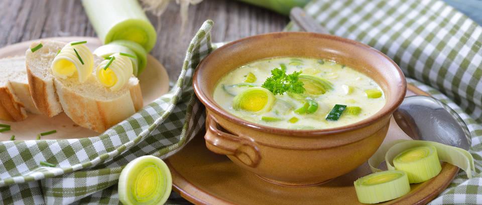 Poriluk krem juha povrće shutterstock 359287517