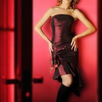 crvena haljina, nova godina