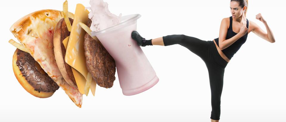 Vjezbanje brza hrana mrsavljenje dijeta shutterstock 158625692