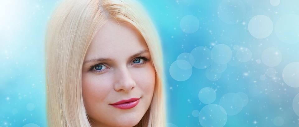 ŽEna, usjne, plave oči, zima, Shutterstock 304507961