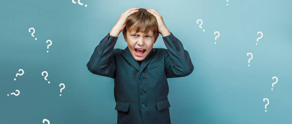 Zbunjeno dijete upitnici odluke shutterstock 312763310