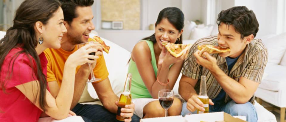 pizza, alkohol, pivo