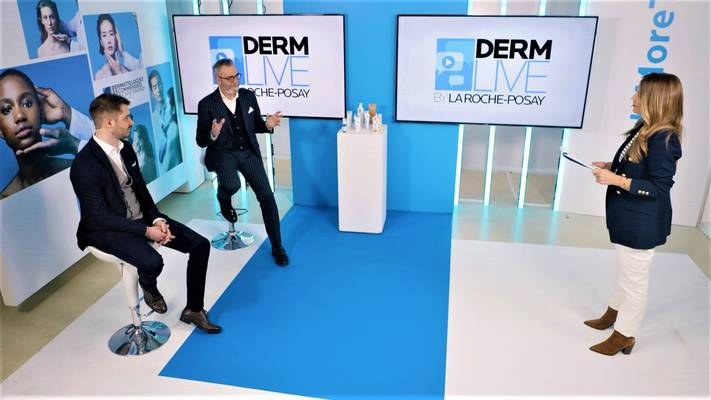 Marketing Director LRP Kristijan Božić, General Manager divizije aktivne kozmetike L'Oreal Adria Dario Scaglia i Marijana Batinić