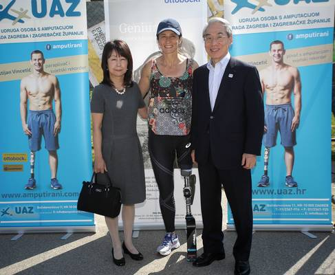 Veleposlanik Japana u Republici Hrvatkoj Keiji Takiguchi i supruga s Anom Sršen