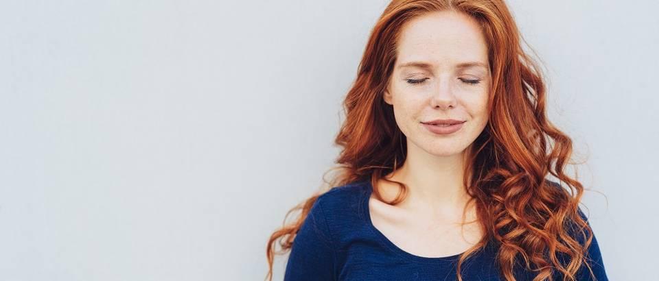 žena, stres, opuštanje, disanje